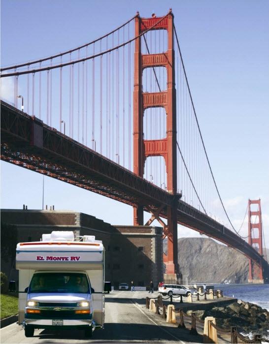 El Monte RV bij Golden Gate Bridge