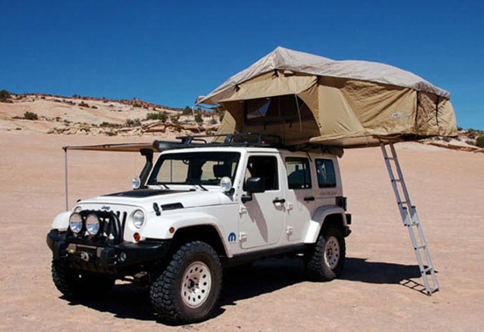 Jeep Wrangler met daktent