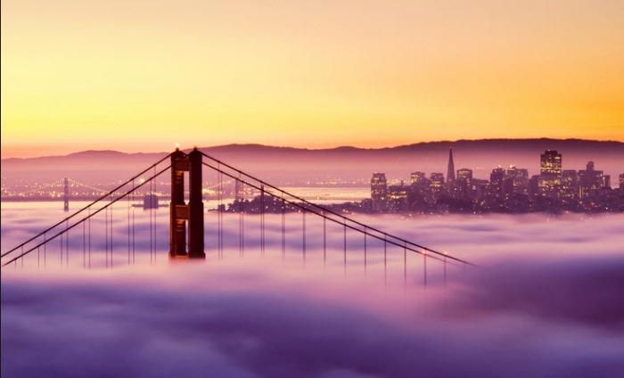 San Francisco in de mist
